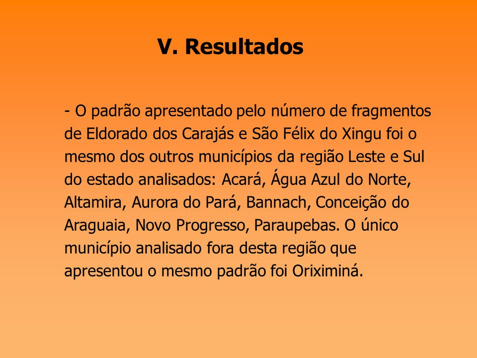 V. Resultados