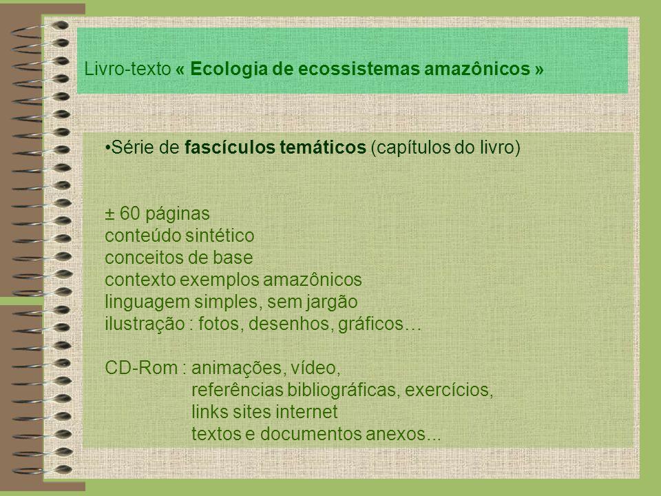 Livro-texto « Ecologia de ecossistemas amazônicos »