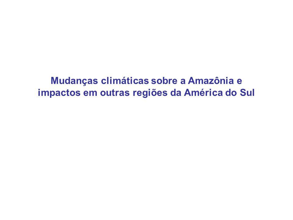 Mudanças climáticas sobre a Amazônia e