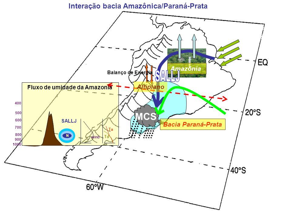 ET MCS SALLJ Interação bacia Amazônica/Paraná-Prata Northeast Trades