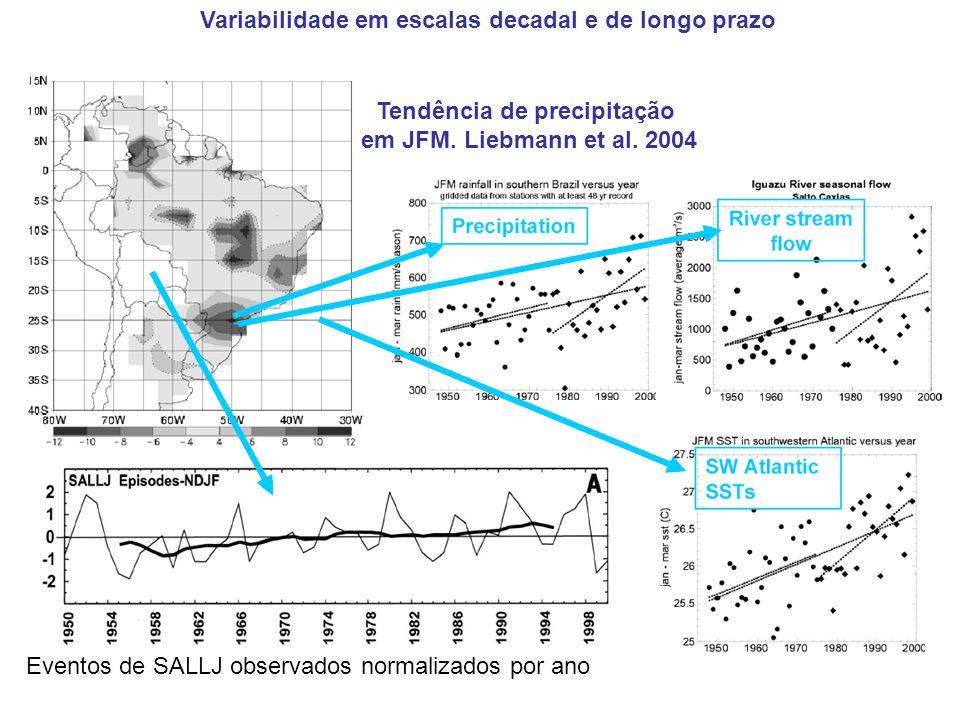 Variabilidade em escalas decadal e de longo prazo
