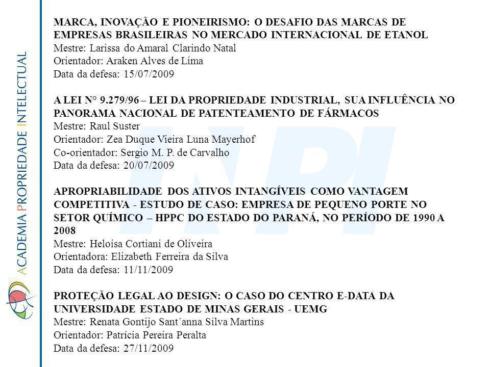 MARCA, INOVAÇÃO E PIONEIRISMO: O DESAFIO DAS MARCAS DE EMPRESAS BRASILEIRAS NO MERCADO INTERNACIONAL DE ETANOL