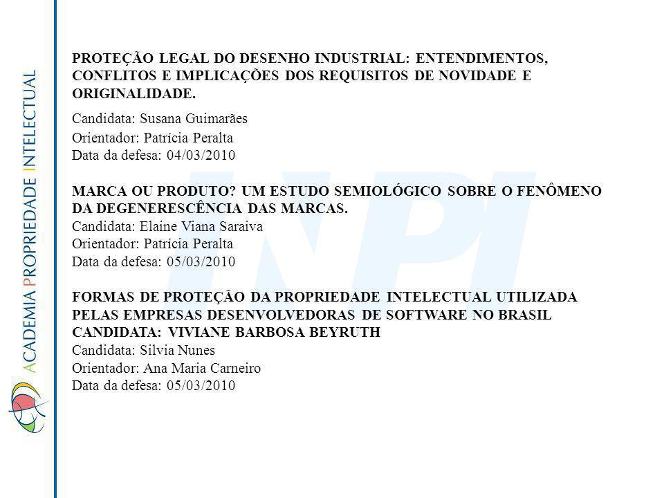 PROTEÇÃO LEGAL DO DESENHO INDUSTRIAL: ENTENDIMENTOS, CONFLITOS E IMPLICAÇÕES DOS REQUISITOS DE NOVIDADE E ORIGINALIDADE.