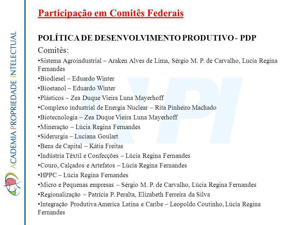 Participação em Comitês Federais