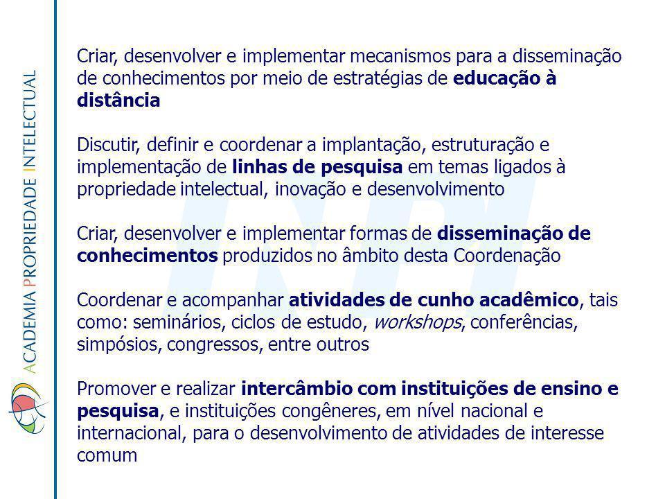 Criar, desenvolver e implementar mecanismos para a disseminação de conhecimentos por meio de estratégias de educação à distância