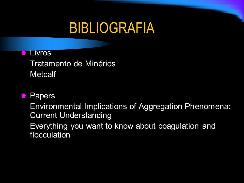 BIBLIOGRAFIA Livros Tratamento de Minérios Metcalf Papers