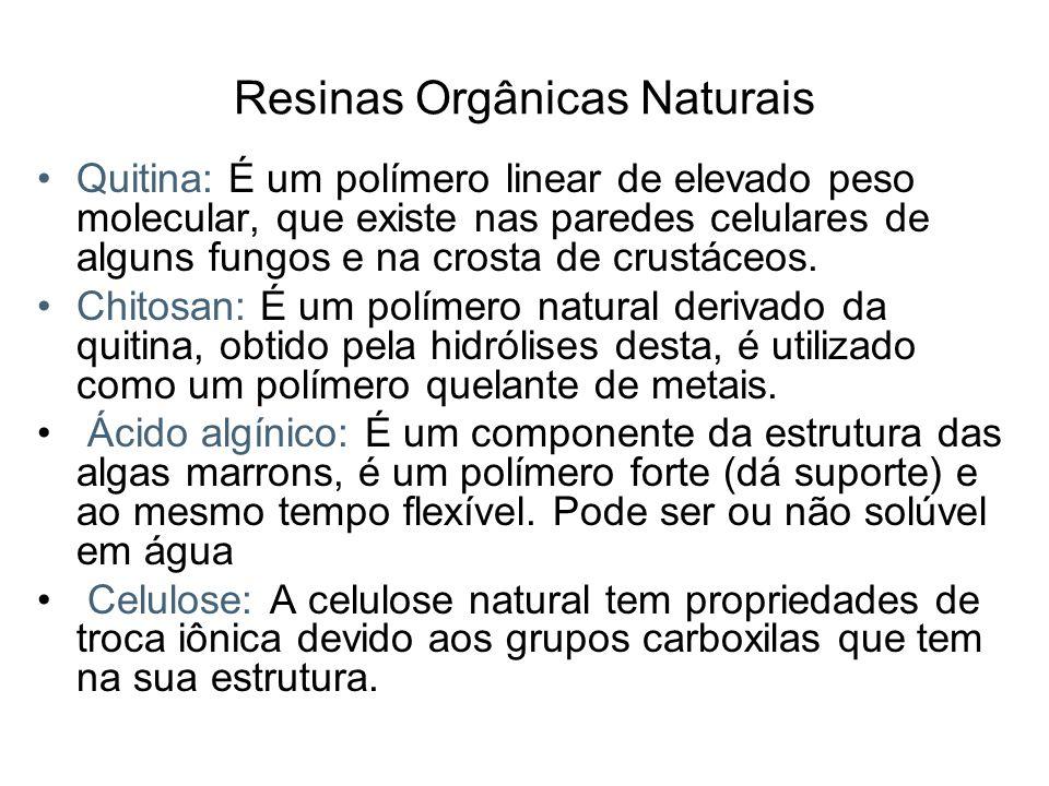 Resinas Orgânicas Naturais