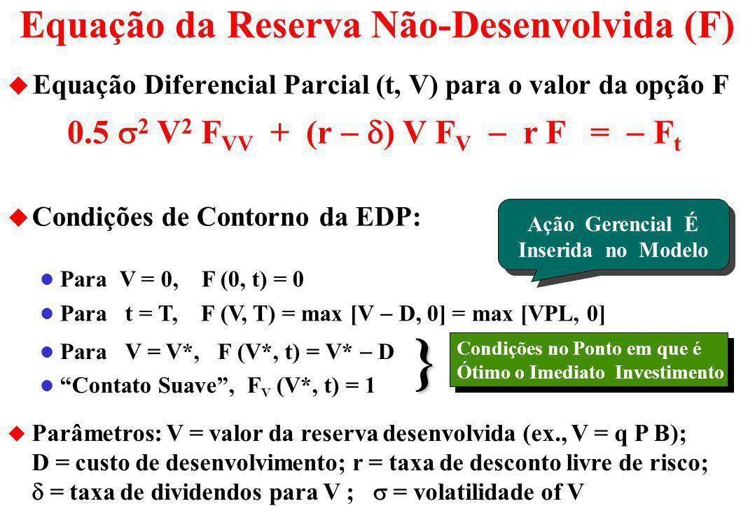 Equação da Reserva Não-Desenvolvida (F)
