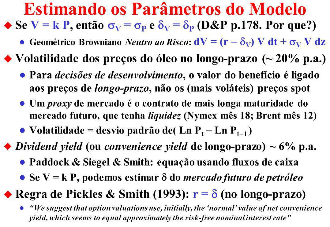 Estimando os Parâmetros do Modelo