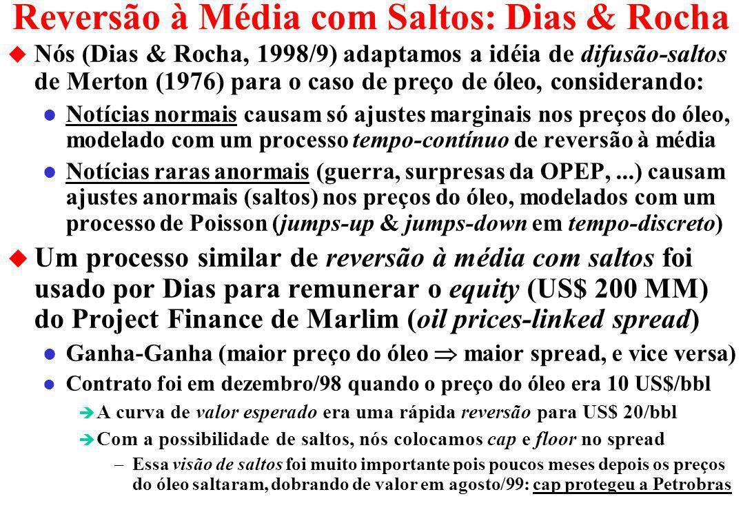 Reversão à Média com Saltos: Dias & Rocha