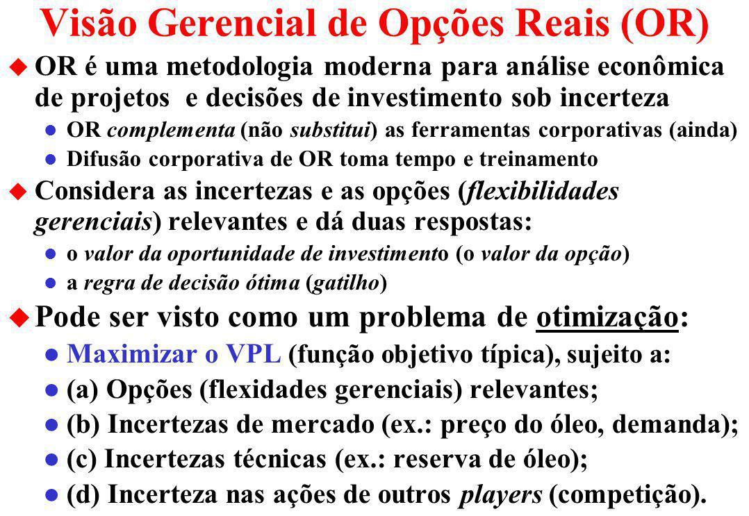 Visão Gerencial de Opções Reais (OR)