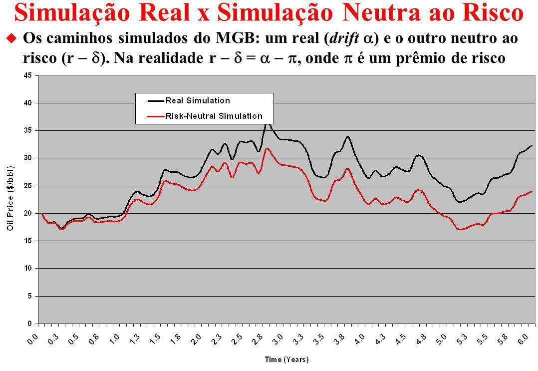 Simulação Real x Simulação Neutra ao Risco