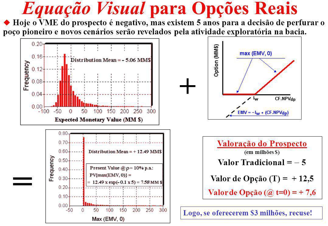 Equação Visual para Opções Reais