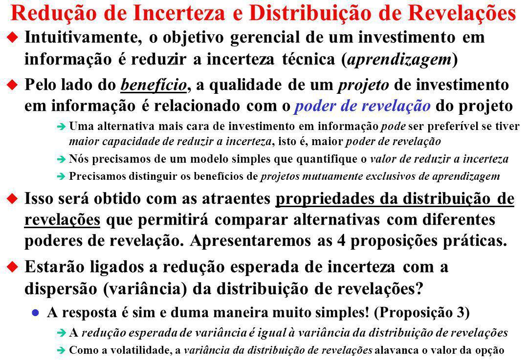Redução de Incerteza e Distribuição de Revelações