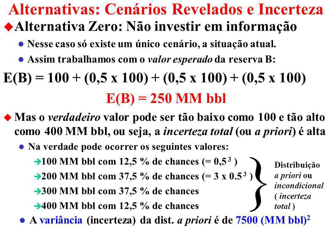 Alternativas: Cenários Revelados e Incerteza