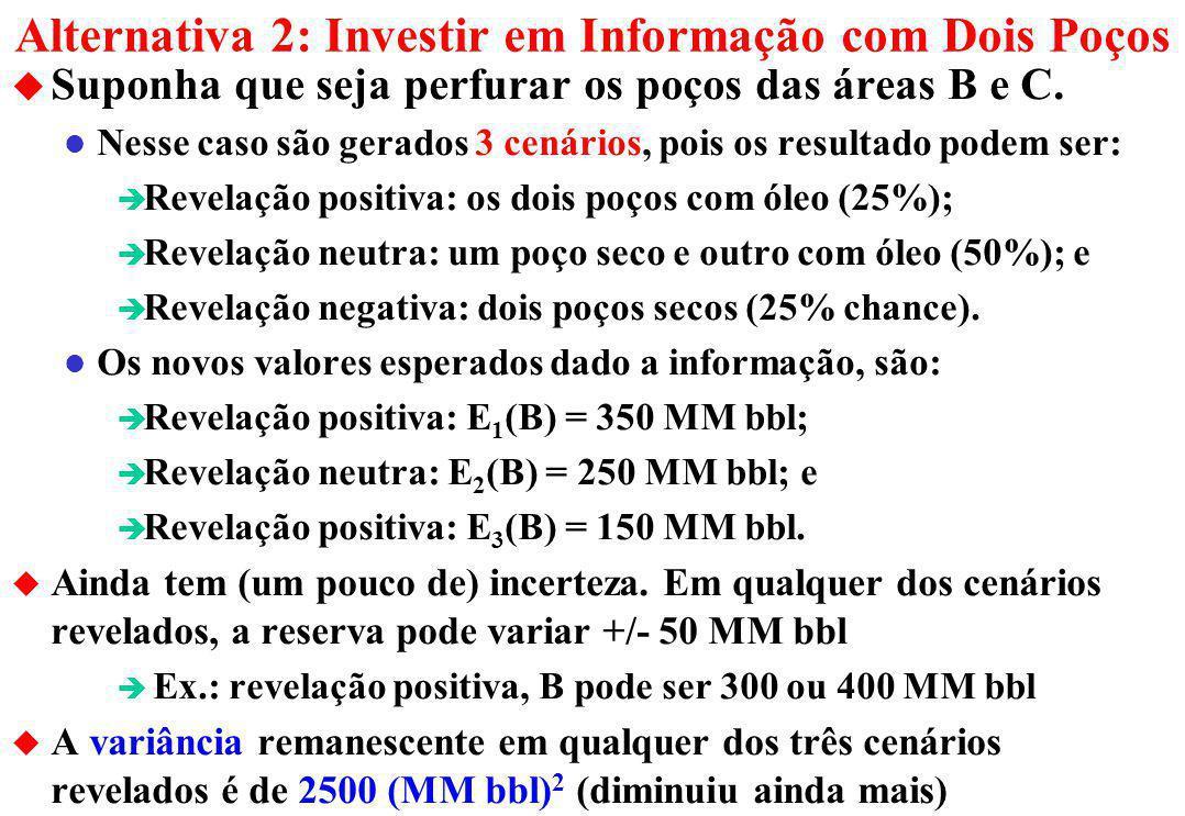 Alternativa 2: Investir em Informação com Dois Poços
