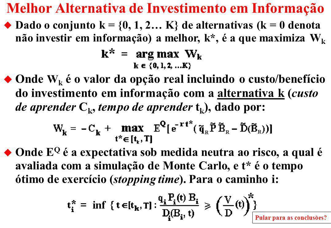 Melhor Alternativa de Investimento em Informação