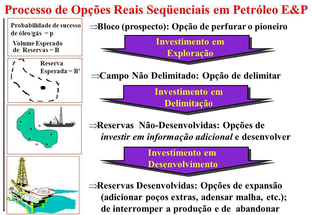 Processo de Opções Reais Seqüenciais em Petróleo E&P