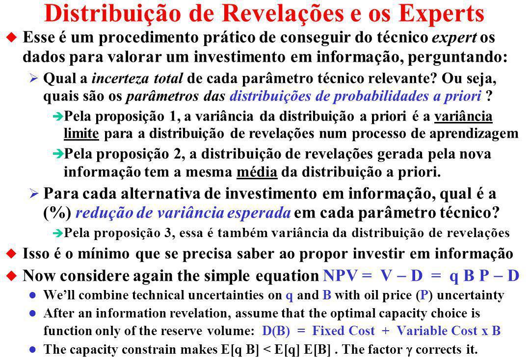Distribuição de Revelações e os Experts