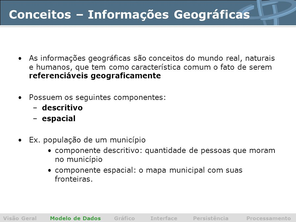 Conceitos – Informações Geográficas