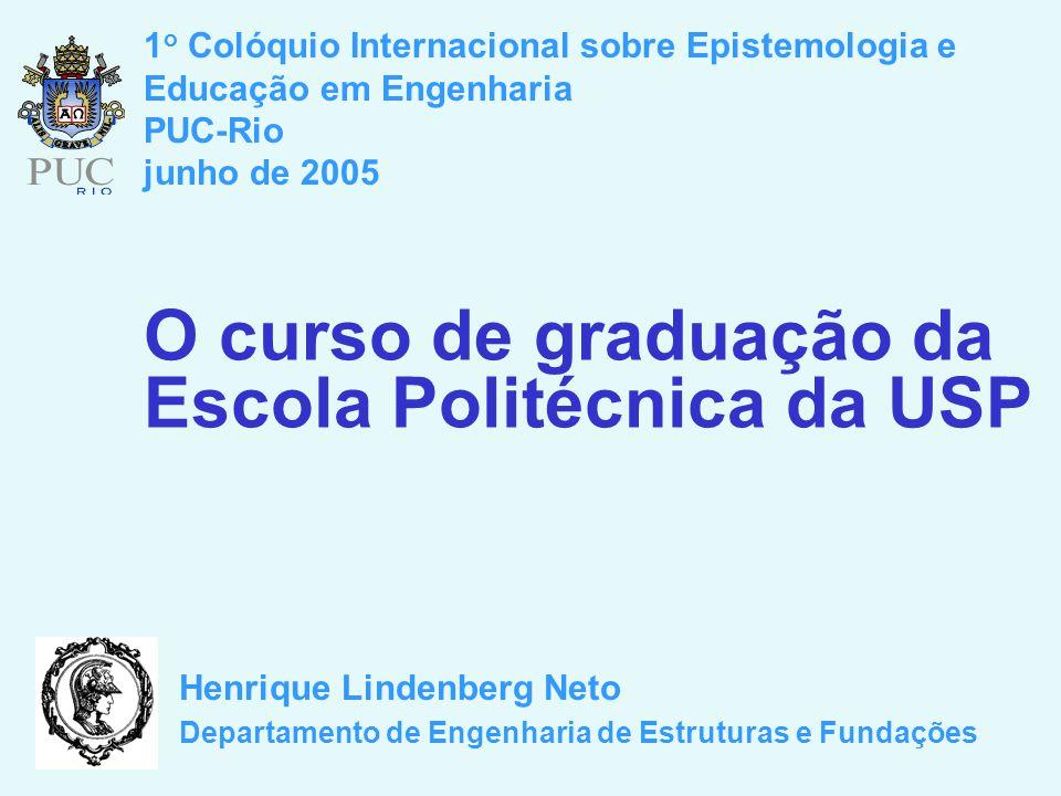 O curso de graduação da Escola Politécnica da USP