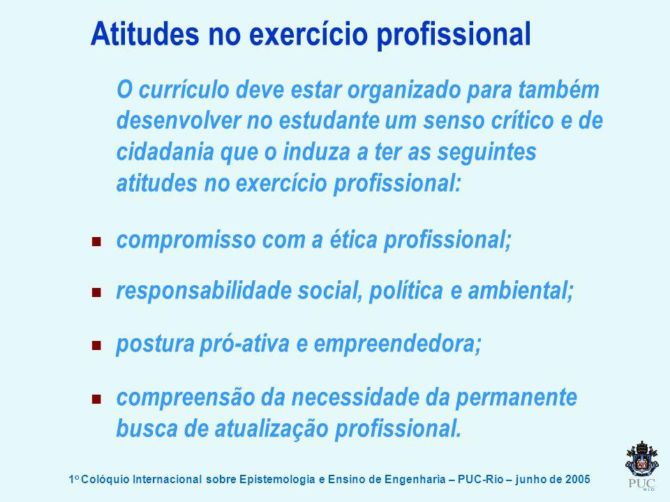 Atitudes no exercício profissional