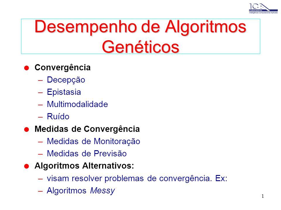Desempenho de Algoritmos Genéticos