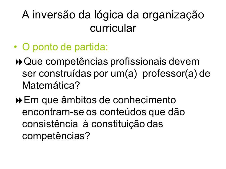 A inversão da lógica da organização curricular