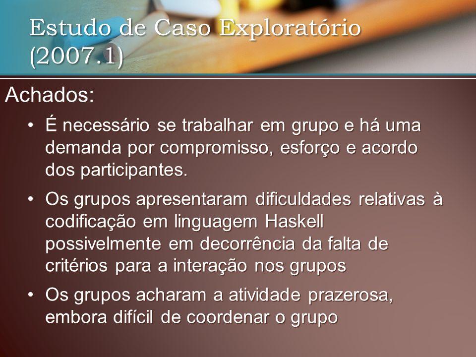 Estudo de Caso Exploratório (2007.1)