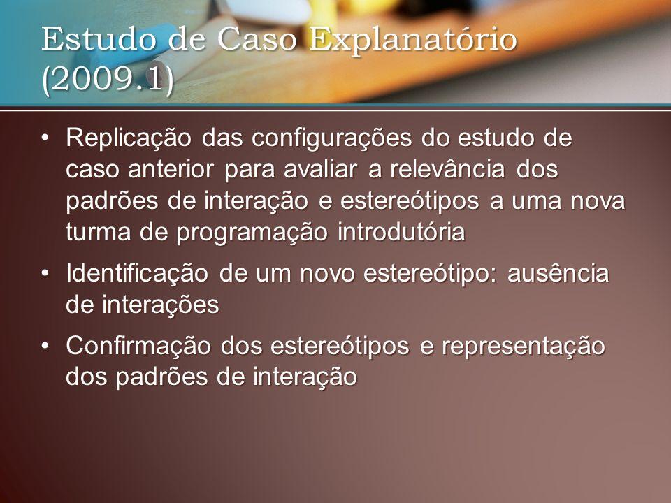 Estudo de Caso Explanatório (2009.1)