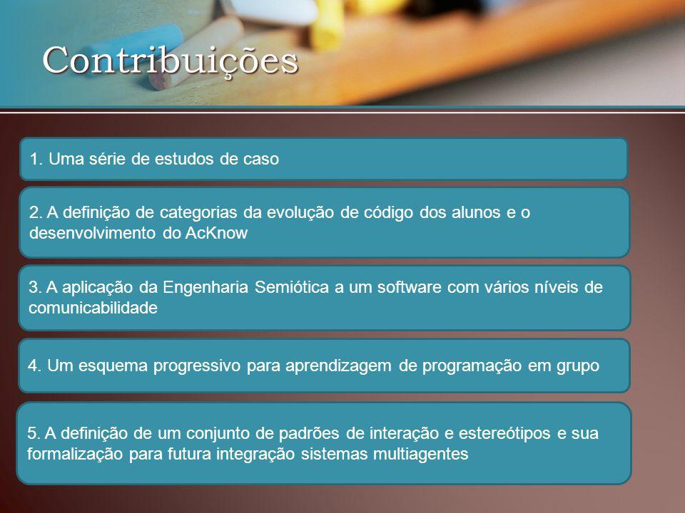 Contribuições 1. Uma série de estudos de caso