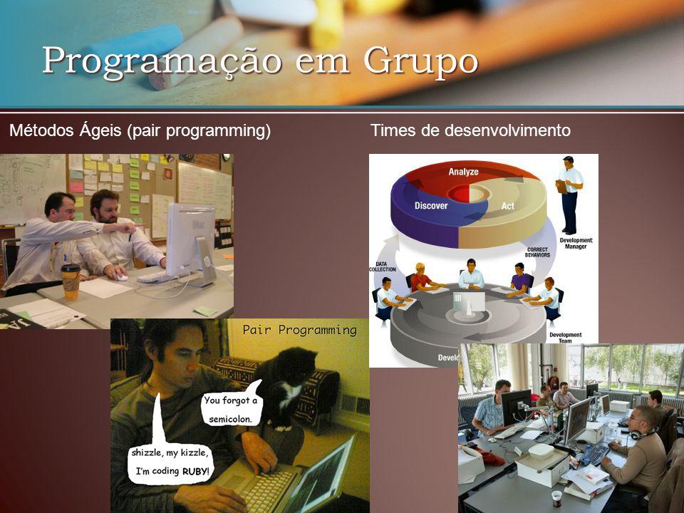 Programação em Grupo Métodos Ágeis (pair programming)