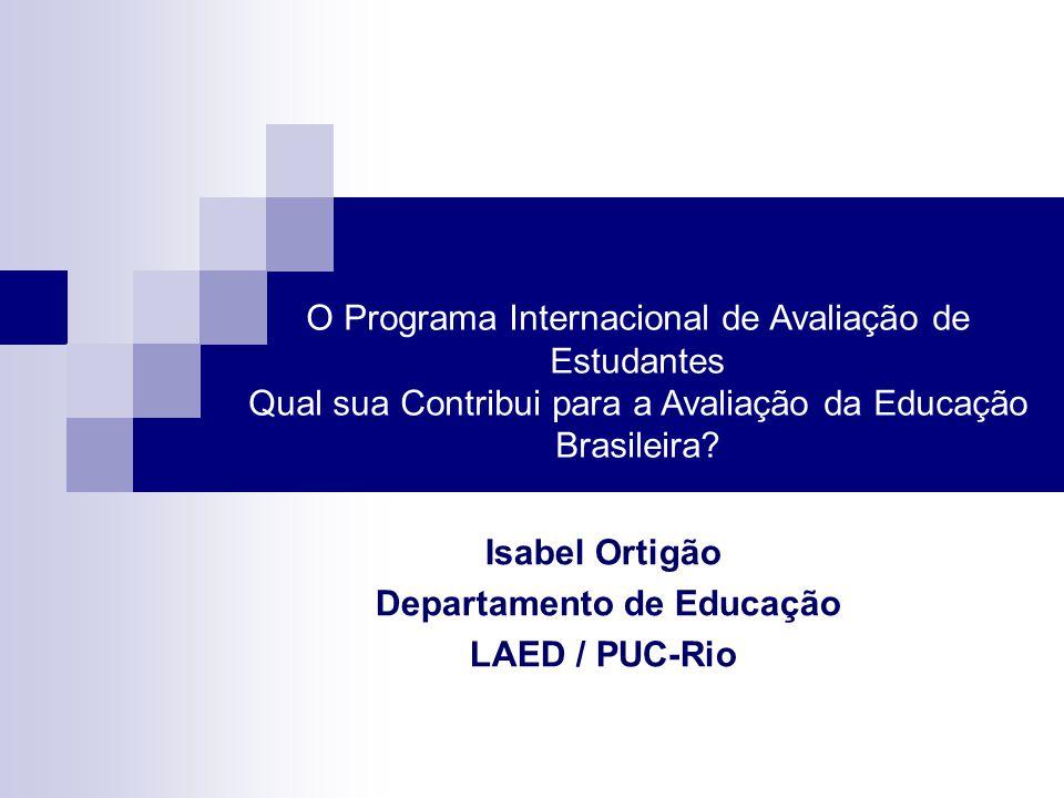 Isabel Ortigão Departamento de Educação LAED / PUC-Rio