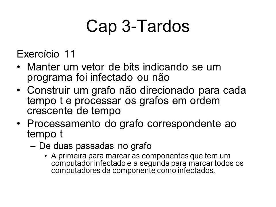 Cap 3-Tardos Exercício 11. Manter um vetor de bits indicando se um programa foi infectado ou não.
