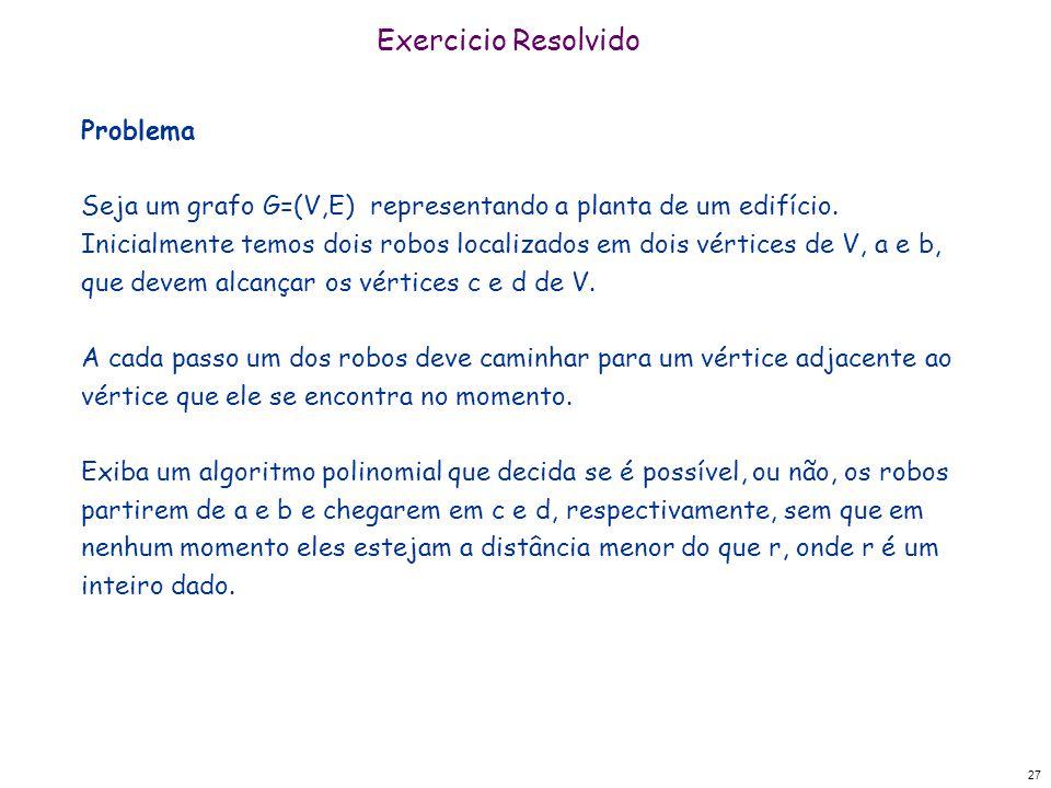 Exercicio Resolvido Problema