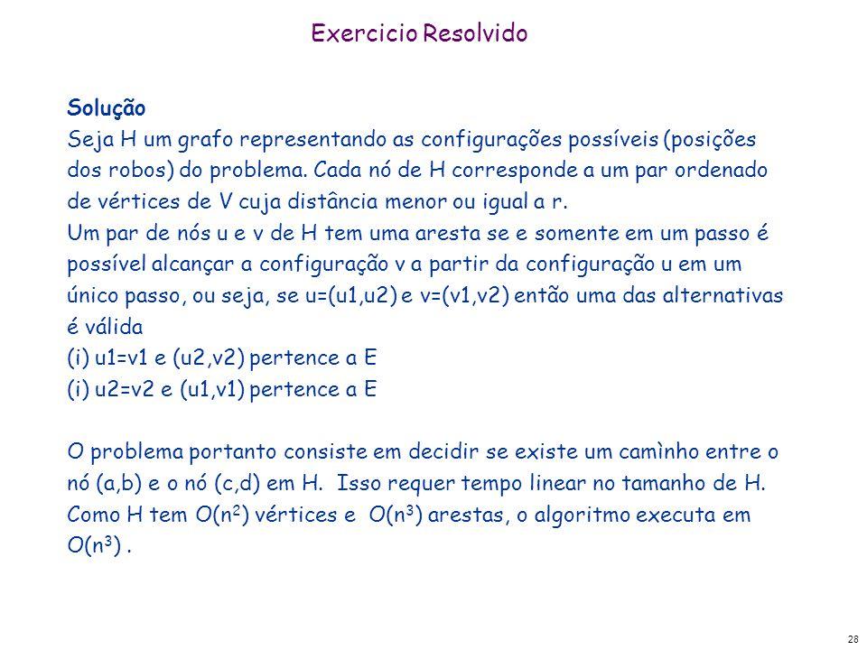 Exercicio Resolvido Solução
