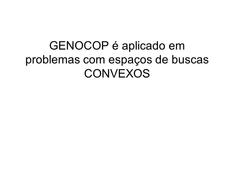 GENOCOP é aplicado em problemas com espaços de buscas CONVEXOS