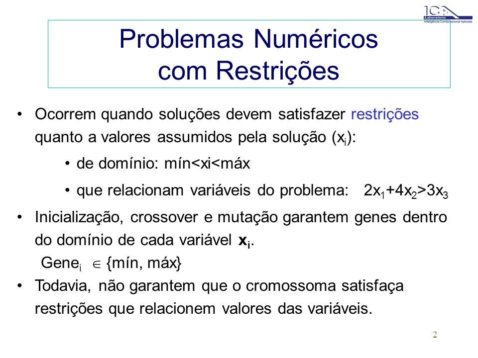 Problemas Numéricos com Restrições