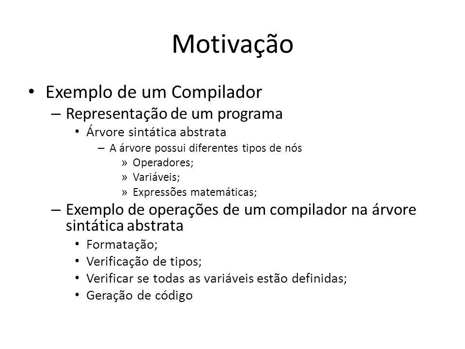 Motivação Exemplo de um Compilador Representação de um programa