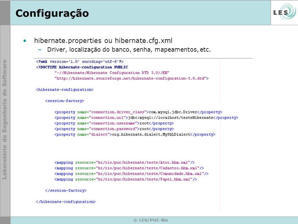 Configuração hibernate.properties ou hibernate.cfg.xml