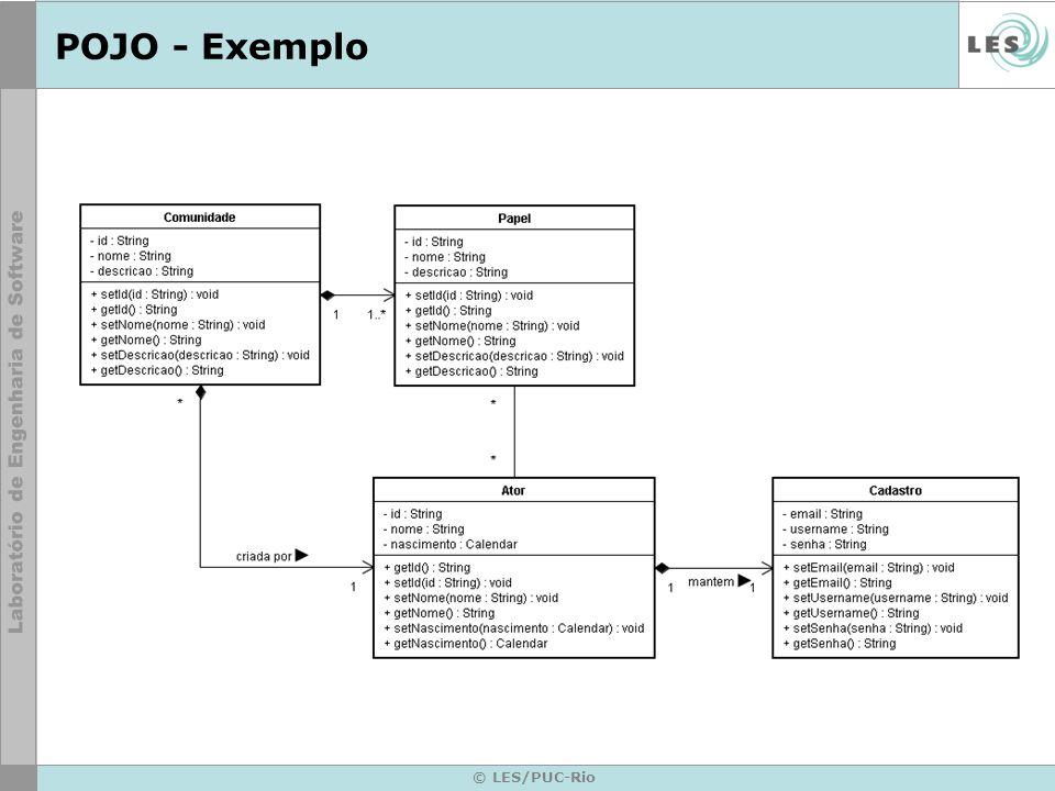 POJO - Exemplo © LES/PUC-Rio
