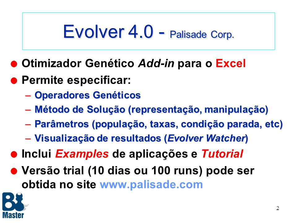 Evolver 4.0 - Palisade Corp.