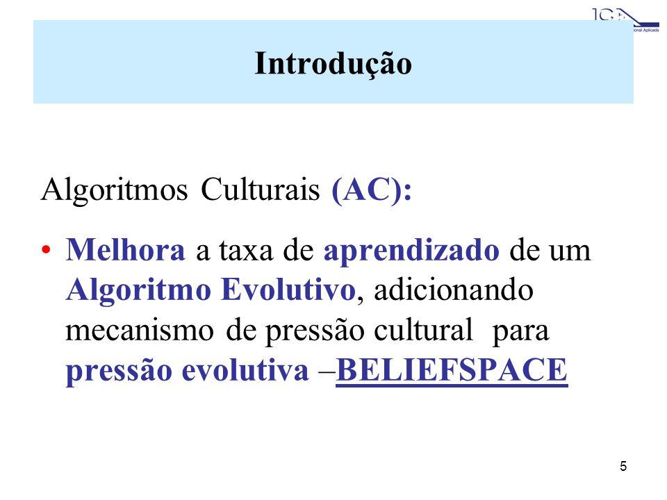 Introdução Algoritmos Culturais (AC):