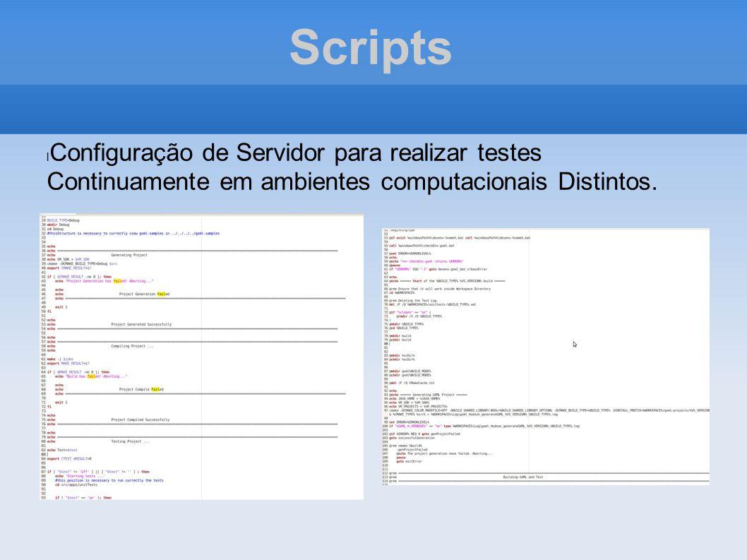 Scripts Configuração de Servidor para realizar testes Continuamente em ambientes computacionais Distintos.