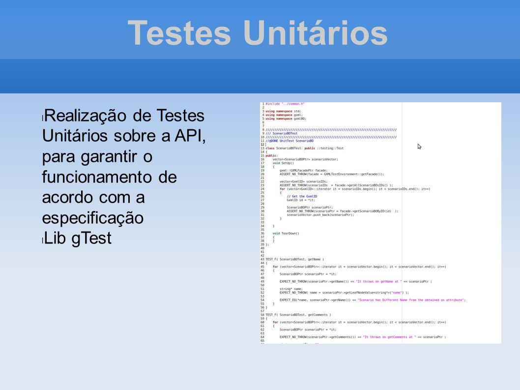Testes Unitários Realização de Testes Unitários sobre a API, para garantir o funcionamento de acordo com a especificação.