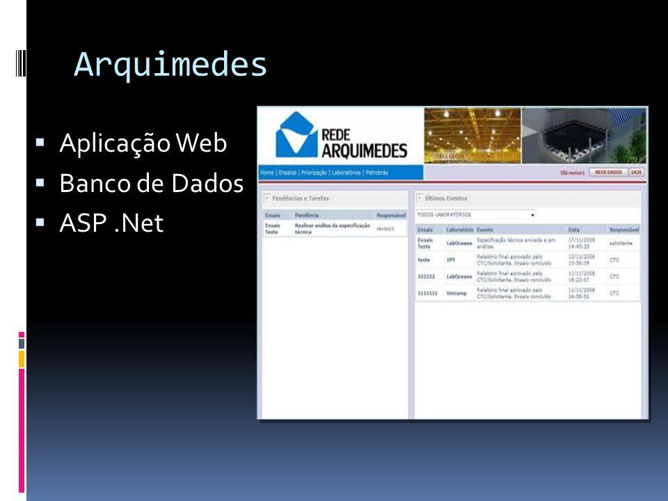 Arquimedes Aplicação Web Banco de Dados ASP .Net