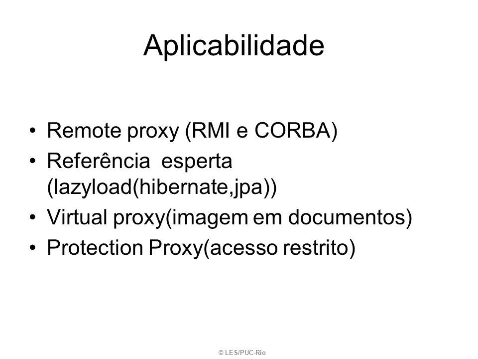 Aplicabilidade Remote proxy (RMI e CORBA)