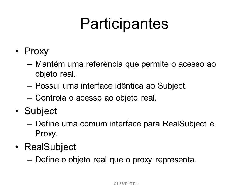 Participantes Proxy Subject RealSubject