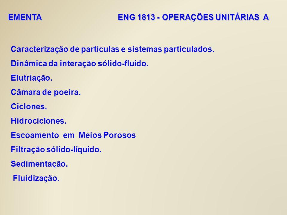 EMENTA ENG 1813 - OPERAÇÕES UNITÁRIAS A