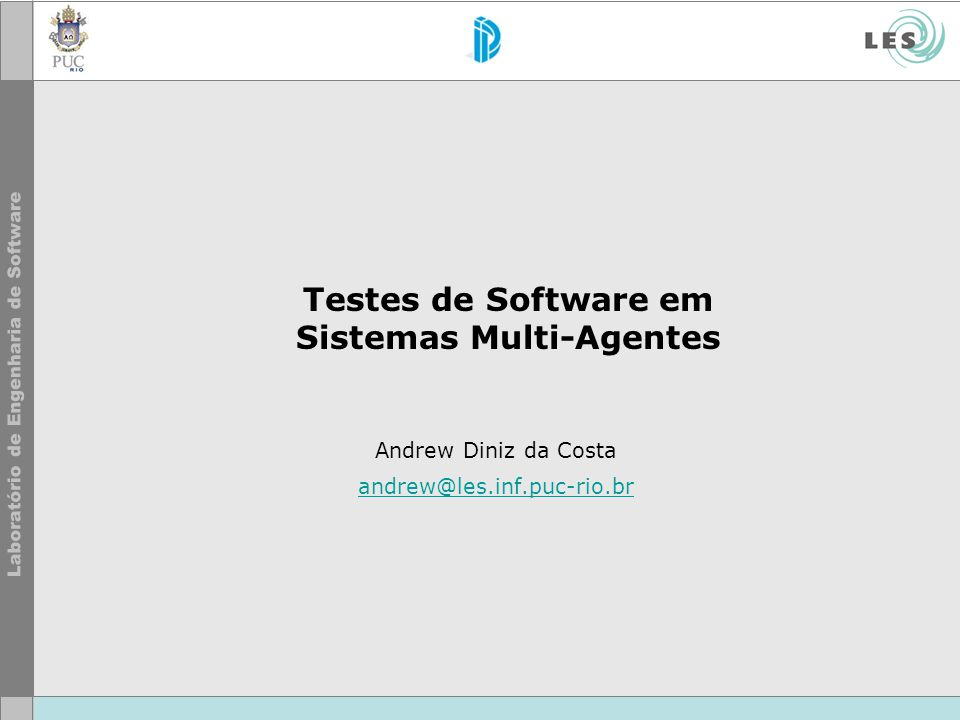 Testes de Software em Sistemas Multi-Agentes